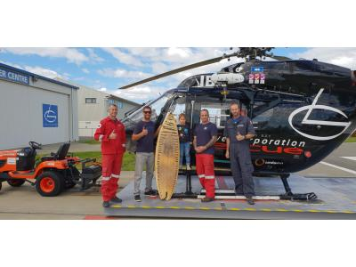 Surfer saved by Rescue Helicopter after 8 hours in the water.