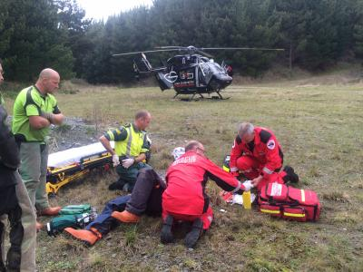 Forest Rescue of 36 year old heart attack victim