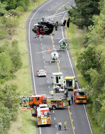 The Rescue Helicopter at a Road Traffic Collision